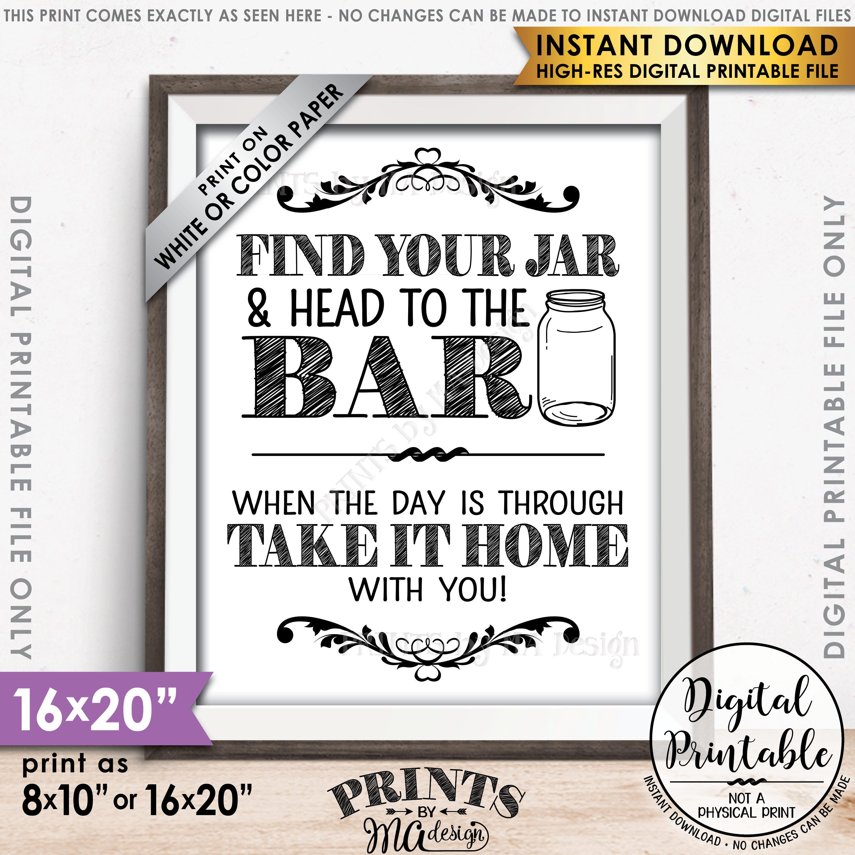 graphic regarding Head in a Jar Printable called Discover Your Jar and Intellect towards the Bar, Consider Your Jar towards the Bar