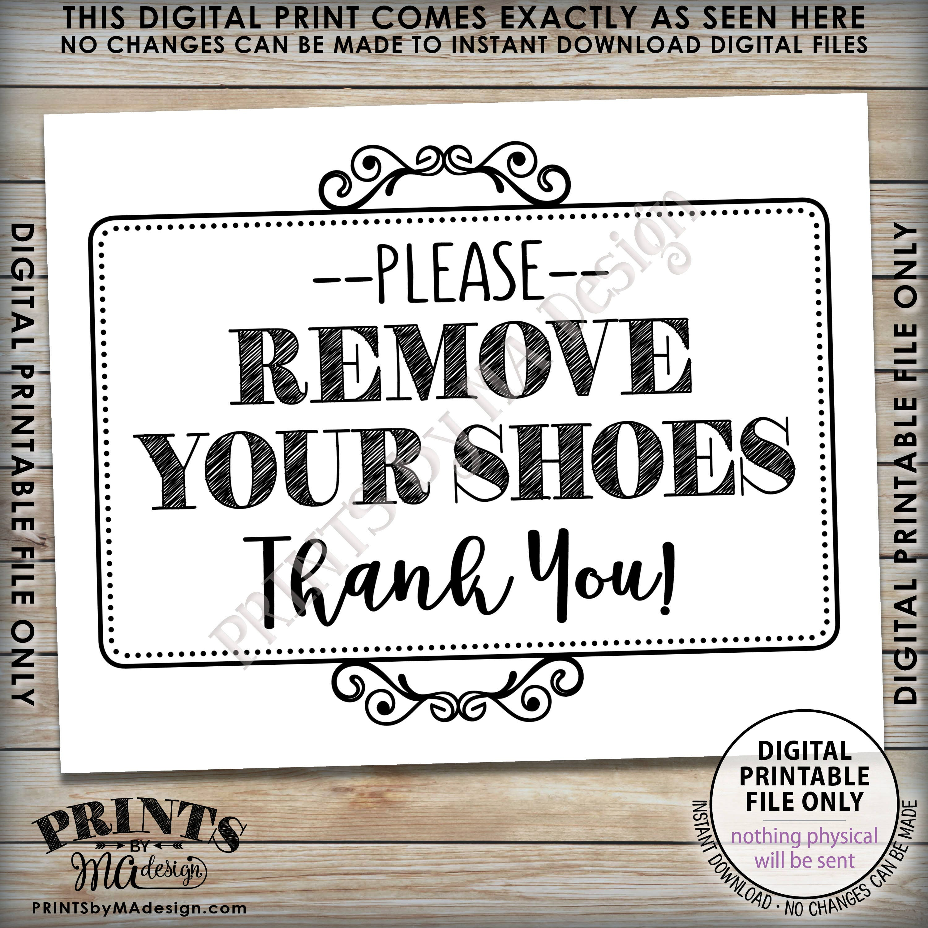 picture regarding Please Remove Your Shoes Sign Printable titled Clear away Sneakers Indicator, You should Take away Your Footwear, Entryway Signal