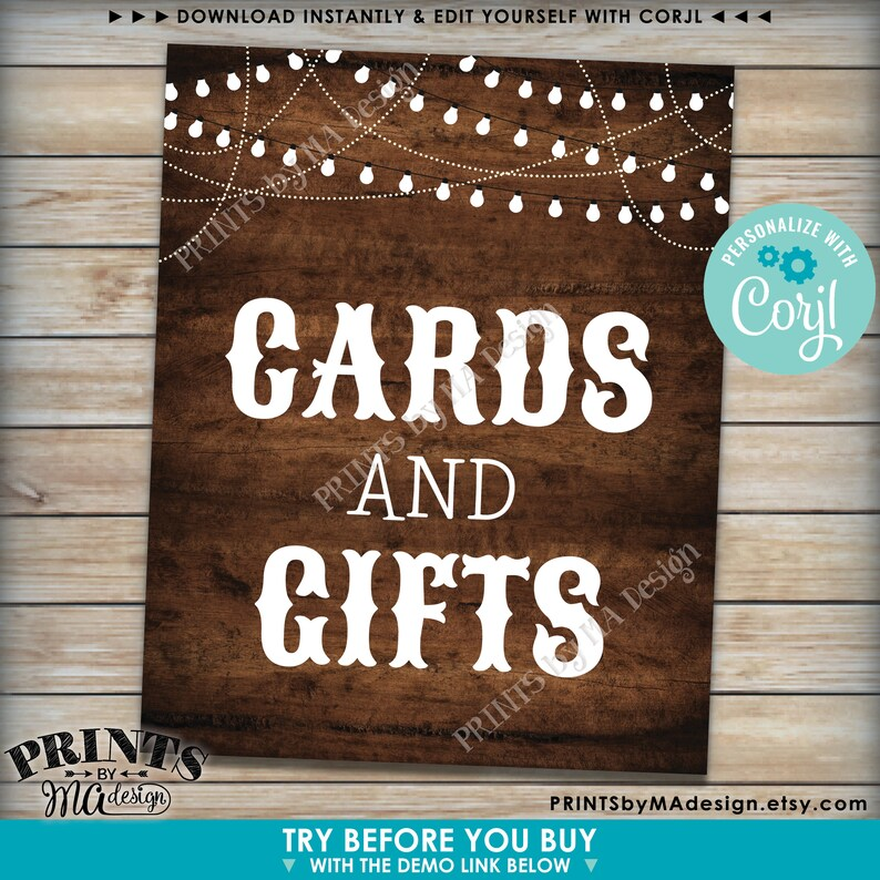 Custom Dark Brown Rustic Wood Style Posters with Lights Choose Your Text Ten PRINTABLE 8x1016x20\u201d Portrait Signs