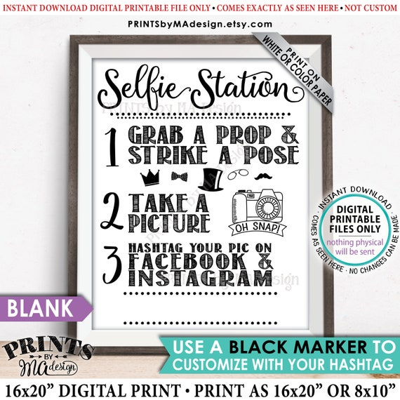 image relating to Selfie Station Sign Free Printable known as Selfie Station Signal, Percentage your pic upon Social Media, Fb Instagram Hashtag, Acquire a Selfie Picture, PRINTABLE 8x10/16x20\u201d Selfie Indication