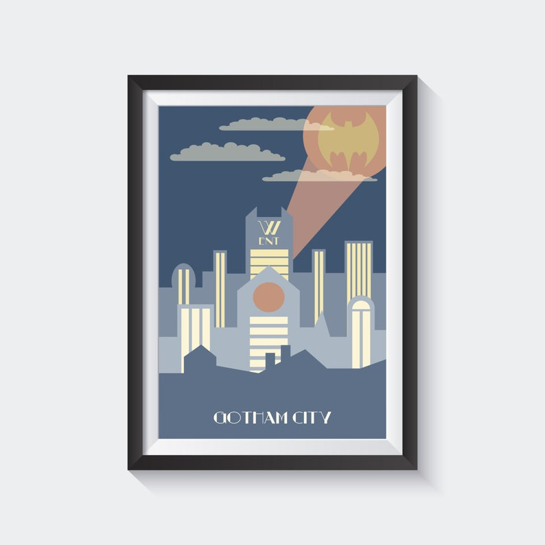 Gotham City in Art Deco image 0