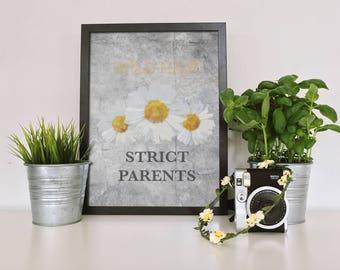 Wild Hair, Strict Parents Art Print