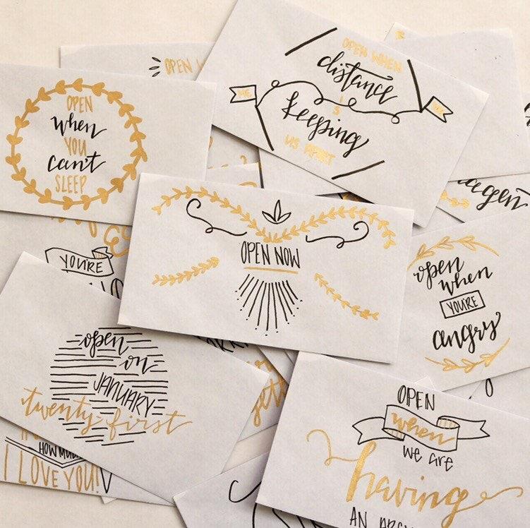 Wenn Buchstaben zu öffnen / Geburtstagsgeschenk / lange | Etsy