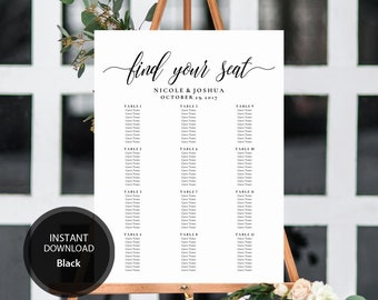 guest seating chart etsy