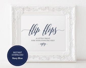 36072c64483d INSTANT DOWNLOAD Wedding Flip Flops Sign 8x10 Calligraphy Dancing Shoes Sign  DIY Wedding Printable Image Dance Floor Navy Blue  DP120 83