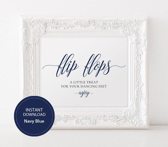 9672ca70fbcdb INSTANT DOWNLOAD Wedding Flip Flops Sign 8x10 Calligraphy