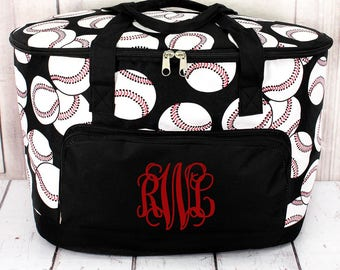 Baseball Soft Sided Insulated Cooler Beverage Tote Cooler Tote Bag