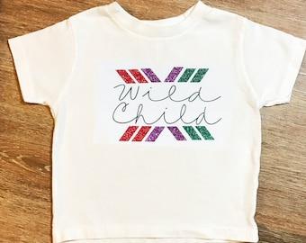 Wild Child Funny Kids Shirts/ Funny Kid Tee/ Funny Kids T Shirt/ Funny Kids TShirt