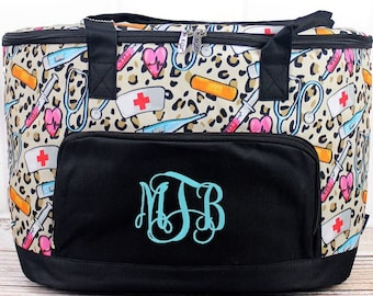 Wild About Nursing Soft Sided Insulated Cooler Beverage Tote Cooler Tote Bag