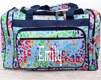 "Chasing Rainbows 20"" Duffle Bag Cheer Bag Kids Duffle Bag Gym Bag Girlie Carry On"