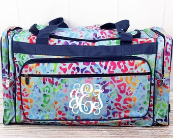 "Chasing Rainbows 23"" Duffle Bag Personalized Cheer Bag Kids Duffle Bag Gym Bag Girlie Carry On"