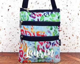 Chasing Rainbows Crossbody Handbag / Crossbody Purse / Over Shoulder Canvas Bag / Monogrammed Purse / Personalized Purse /   Purse Handbag
