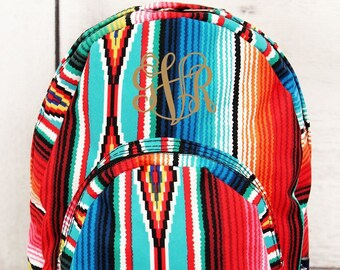 Southwest Serape Small Backpack  Toddler Backpack  Preschool Backpack   Diaper Bag b9b74f8ec9714