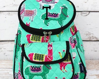 No Prob-Llama Quilted Preschool Backpack Mini Backpack Purse Backpack Toddler Diaper Bag Backpack Small Backpack