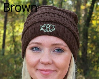 Winter Ready Slouch Beanie in Various Colors  Winter Hat  Monogrammed Beanie   Personalized Beanie c4681a8a29c
