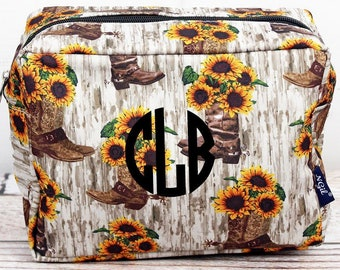 Boot Bouquet Makeup Bag for Teen Girl Gifts Cosmetic Travel Case Cosmetic Bag Gift For Her