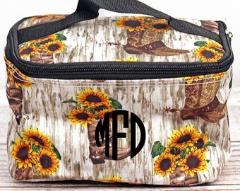 Boot Bouquet Top Lid Makeup Bag for Teen Girl Gifts Cosmetic Travel Case Cosmetic Bag Gift For Her