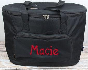 Black Soft Sided Insulated Cooler Beverage Tote Cooler Tote Bag