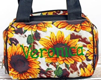 Sunflower Farm Insulated Lunch Box for School Lunch Bag for Women Lunch Bag for Nurse