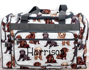 "Puppy Love 20"" Duffle Bag Cheer Bag Kids Duffle Bag Gym Bag Girlie Carry On"