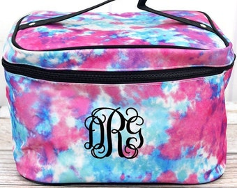California Dreamin' Cosmetic Train Case With Mirror Makeup Train Case Gifts for Women Cosmetic Organizer