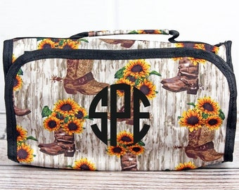 Boot Bouquet Roll Up Cosmetic Clutch Cosmetic Organizer Makeup Bag Teen Girl Gifts