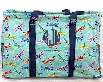 Dragonfly Away Extra Large Eco Friendly Bag Farmers Market Bag Toy Basket