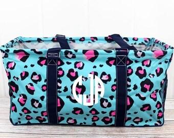 Leopard Lounge Eco Friendly Bag Farmers Market Bag Toy Basket