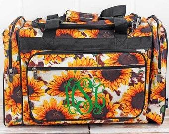 "Sunflower Farm 23"" Duffle Bag Personalized Cheer Bag Kids Duffle Bag Gym Bag Girlie Carry On"