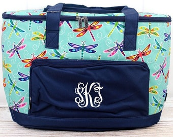Dragonfly Away Soft Sided Insulated Cooler Beverage Tote Cooler Tote Bag