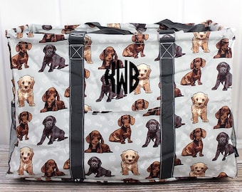 Puppy Love Extra Large Eco Friendly Bag Farmers Market Bag Toy Basket