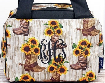 Boot Bouquet Insulated Lunch Box for School Lunch Bag for Women Lunch Bag for Nurse