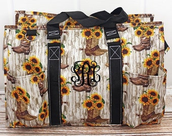 Boot Bouquet Diaper Bag Gift For Baby Shower Zippered Tote Bag