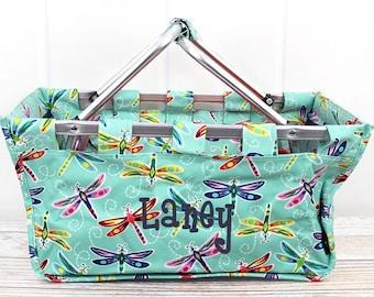 Dragonfly Away Farmers Market Bag Grocery Tote Bag Eco Friendly Bag Picnic Basket