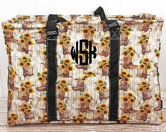 Boot Bouquet Extra Large Eco Friendly Bag Farmers Market Bag Toy Basket