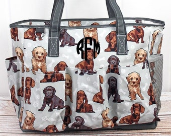 Puppy Love Diaper Bag Gift For Baby Shower Zippered Tote Bag