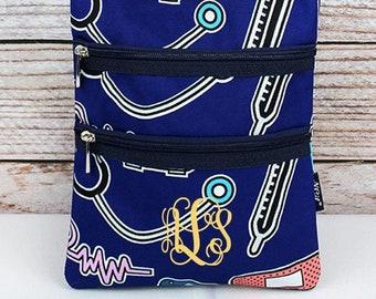 Nurse Love Crossbody Handbag / Crossbody Purse / Over Shoulder Canvas Bag / Monogrammed Purse / Personalized Purse /   Purse Handbag