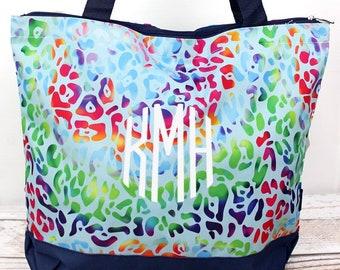 Chasing Rainbows Wide Tote Bag/ Over Shoulder Purse/ Over Shoulder Bag/ Beach Bag/ Weekender Bag