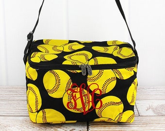 Softball Shoulder Insulated Lunch Box for School Lunch Bag for Women Lunch Bag for Nurse