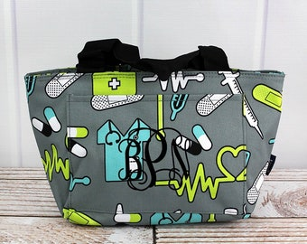 41e3c73760df Nurse lunch bag | Etsy