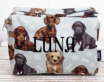 Puppy Love Makeup Bag for Teen Girl Gifts Cosmetic Travel Case Cosmetic Bag Gift For Her