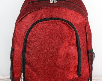 Glitz & Glam Red Backpack for Teens Personalized Backpack Kids Monogrammed Backpack