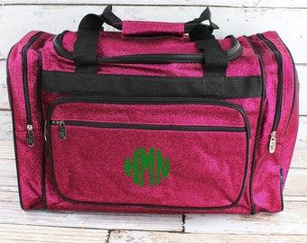 "Glitz & Glam Hot Pink 20"" Duffle Bag Cheer Bag Kids Duffle Bag Gym Bag Girlie Carry On"