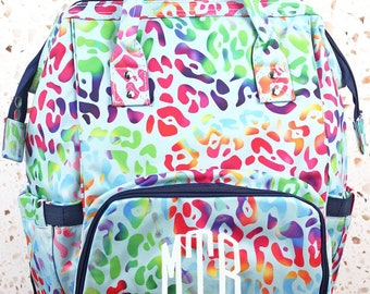 Chasing Rainbows Diaper Bag Backpack Gift For Baby Shower Nursing Tote Bag