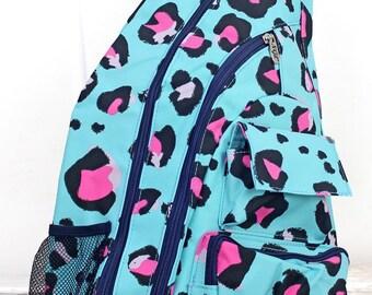 Leopard Lounge Sling Backpack/ Sling Backpack for Hiking/ Sling Backpack Diaper Bag/ Diaper Bag for Dads/ Festival Backpack