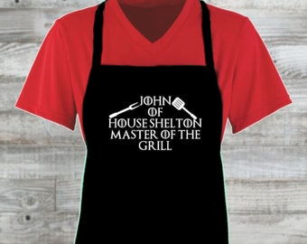 Game of Thrones Father's Day Custom Apron/ Father's Day Gift/ Gift For Men Father's Day Grilling