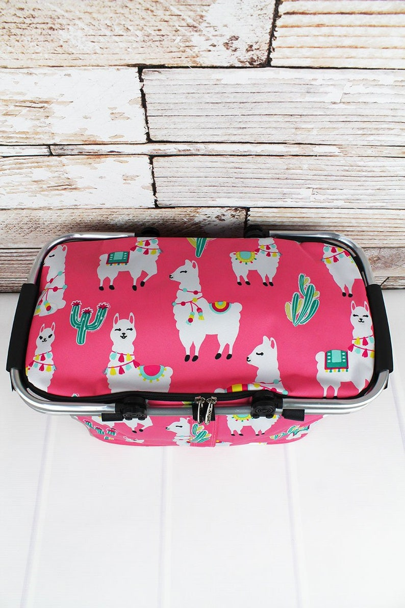 Llovely Llamas Insulated Farmers Market Bag Grocery Tote Bag Eco Friendly Bag Picnic Basket