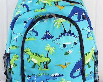 Dinosaur World Backpack for Teens Personalized Backpack Kids Monogrammed Backpack