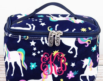 Unicorn Dreams Top Lid Makeup Bag for Teen Girl Gifts Cosmetic Travel Case Cosmetic Bag Gift For Her