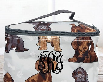 Puppy Love Top Lid Makeup Bag for Teen Girl Gifts Cosmetic Travel Case Cosmetic Bag Gift For Her